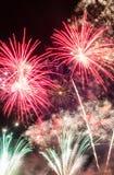 Bunte Feuerwerke Stockbild