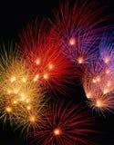 Bunte Feuerwerke Lizenzfreies Stockbild