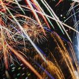 Bunte Feuerwerke Stockfotos