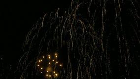 Bunte Feuerwerke in der Zeitlupe 96fps stock footage