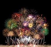 Bunte Feuerwerke von verschiedenen Farben Lizenzfreies Stockfoto