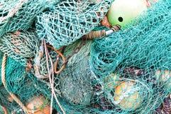 Bunte Fischernetze zusammen gesetzt Lizenzfreies Stockbild