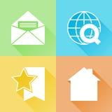 Bunte flache Ikonen des Netzes Lizenzfreie Stockfotografie