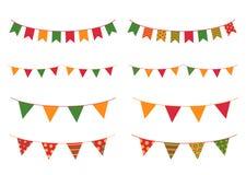 Bunte Flaggen für Cinco De Mayo-Feiertagsdesigne Stockbilder