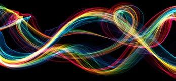 Bunte Flamme bewegt abstrakten Hintergrund wellenartig Stockfotografie