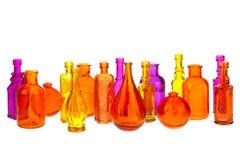 Bunte Flaschen lizenzfreie stockbilder