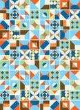 Bunte Fliesen-Muster-Illustration Stockbild