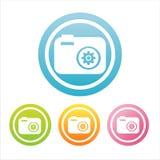 bunte Fotographienzeichen stock abbildung