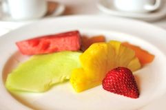 Bunte Früchte für Nachtisch Lizenzfreie Stockfotografie