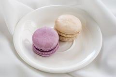 Bunte französische macarons Lizenzfreies Stockfoto