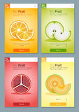 Bunte Fruchtfahne für APP-Design 1 Lizenzfreie Stockfotografie