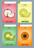 Bunte Fruchtfahne für APP-Design 4 Stockbilder