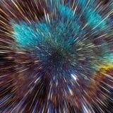 Bunte Galaxiewolken und Urknallzusammenfassung spielen Beschaffenheit die Hauptrolle Lizenzfreies Stockbild