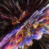 Bunte Galaxiewolken und Urknallzusammenfassung spielen Beschaffenheit die Hauptrolle Lizenzfreie Stockbilder