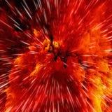 Bunte Galaxiewolken und Urknallzusammenfassung spielen Beschaffenheit die Hauptrolle lizenzfreie abbildung