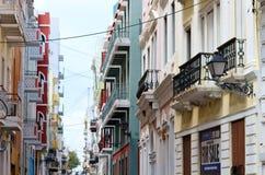 Bunte Gebäude in der alten Stadt, San Juan, Puerto Rico lizenzfreies stockfoto