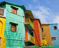 Bunte Gebäude im La Boca Stockbild