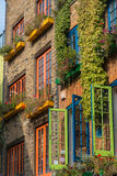 Bunte Gebäude in London lizenzfreie stockfotografie