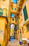 Bunte Gebäude in Monterosso in Cinque Terre, Italien stockfotografie