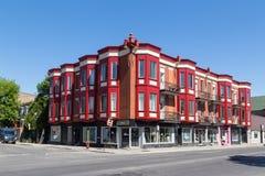 Bunte Gebäude in Montreal Stockbild