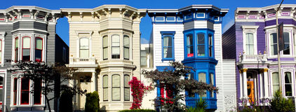 Bunte Gebäude in San Francisco Lizenzfreies Stockbild
