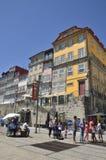 Bunte Gebäude im Ribeira Lizenzfreie Stockfotos