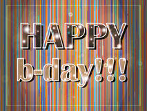 Bunte Geburtstagkarte Lizenzfreies Stockfoto