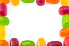 Bunte Geleesüßigkeiten und bunte Geleesüßigkeiten des Gelees Feld Lizenzfreies Stockfoto
