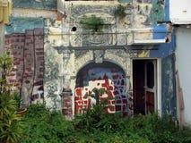 Bunte gemalte Häuser in Melaka Lizenzfreie Stockbilder