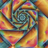 Bunte geometrische gewundene Fractalillustration, zum vieler Konzepte zu veranschaulichen lizenzfreie abbildung