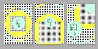 Bunte geometrische Hintergründe Schablonen für Abdeckung, Karte, Fahne, Plakat lizenzfreie abbildung