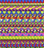 Bunte geometrische Muster Lizenzfreie Stockfotos