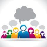 Bunte Geschäftsleute Kommunikationskonzept lizenzfreie abbildung