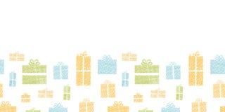 Bunte Geschenkboxtextilbeschaffenheit horizontal Stockbilder