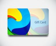 Bunte Geschenkkarte Stockfotografie