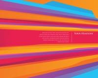 Bunte Geschwindigkeitsstreifen-Designschablone Lizenzfreies Stockfoto