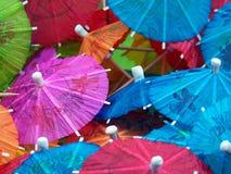 Bunte Getränk-Regenschirme Lizenzfreies Stockbild