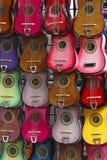 Bunte Gitarren Lizenzfreies Stockbild