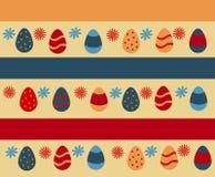 Bunte glückliche Ostern-Grußkarte Stockfoto