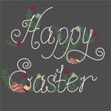 Bunte glückliche Ostern-Grußkarte Stockbild