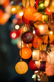 Bunte glühende Weihnachtslichter Lizenzfreie Stockfotografie