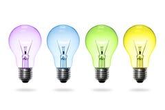 Bunte Glühlampe Lizenzfreie Stockfotos