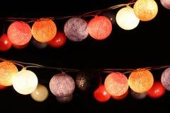 Bunte Glühlampen Stockfotos