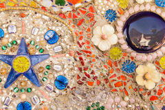 Bunte glasig-glänzende Fliese Lizenzfreies Stockfoto
