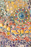 Bunte Glasmosaikkunst und abstrakte Wand Lizenzfreie Stockbilder