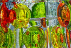 Bunte Glasreflexionen Stockfotografie