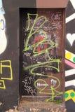 Bunte Graffiti-Türen Lizenzfreies Stockbild