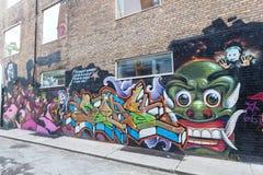 Bunte Graffiti in Toronto Stockbilder