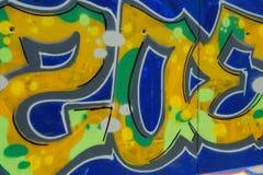 Bunte Graffitiwand - Hintergrund Lizenzfreie Stockbilder