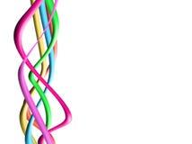 Bunte grafische Wellen-Hintergründe Stockbild